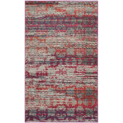 Knowland Gray Area Rug Rug Size: Rectangle 3 x 5