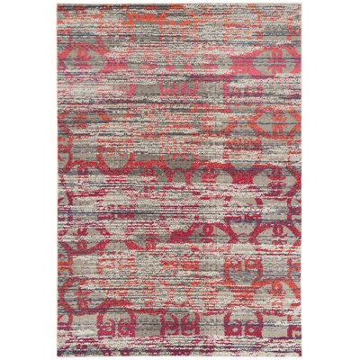 Knowland Gray Area Rug Rug Size: Rectangle 51 x 77