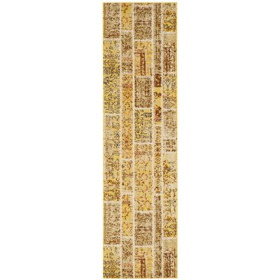 Yellow Area Rug Rug Size: Runner 2'2