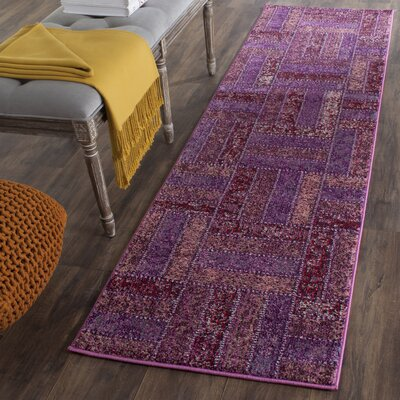 Purple Area Rug Rug Size: Runner 22 x 8