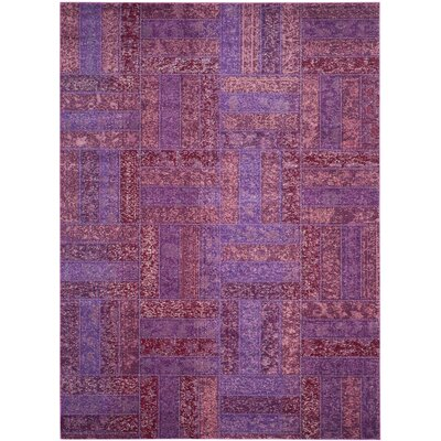 Purple Area Rug Rug Size: Rectangle 8 x 11