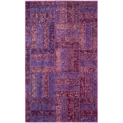 Purple Area Rug Rug Size: 67 x 92