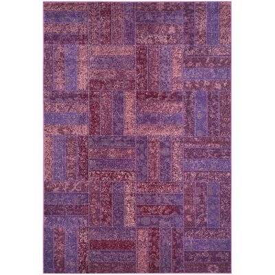 Purple Area Rug Rug Size: Rectangle 51 x 77