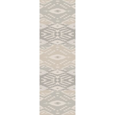 Hays Light Gray Area Rug Rug Size: Runner 26 x 8