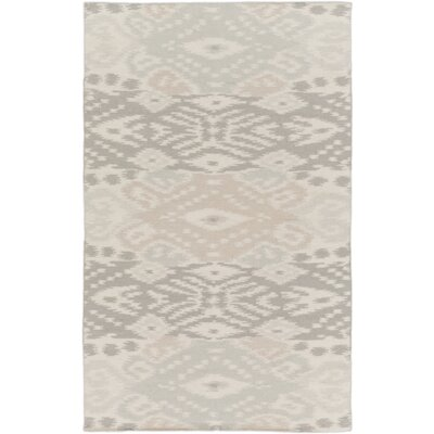Hays Light Gray Area Rug Rug Size: 5 x 8