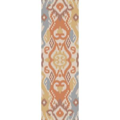 Koch Coral/Mocha Area Rug Rug Size: Runner 26 x 8