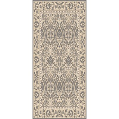 Hand-Tufted Charcoal/Taupe Area Rug Rug Size: Runner 26 x 8