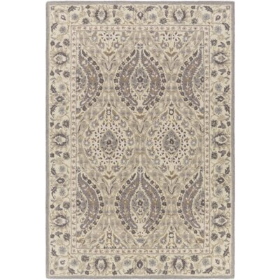 Hand-Tufted Charcoal/Taupe Area Rug Rug Size: Rectangle 5 x 76