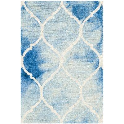 El Segundo Hand-Tufted Blue/Ivory Area Rug Rug Size: Rectangle 2 x 3