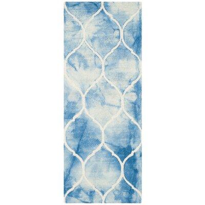 El Segundo Hand-Tufted Blue/Ivory Area Rug Rug Size: Runner 23 x 6