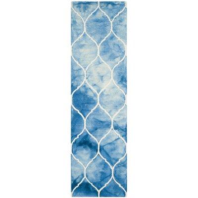 El Segundo Hand-Tufted Blue/Ivory Area Rug Rug Size: Runner 23 x 8