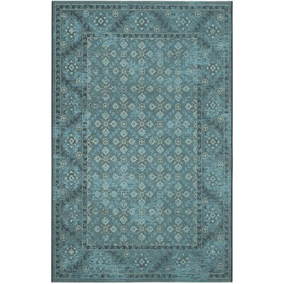 Blue/Grey Area Rug Rug Size: Rectangle 26 x 5