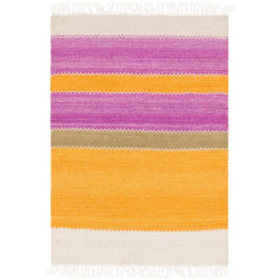 Huffman Hand-Tufted Tangerine/Magenta Area Rug Rug Size: Rectangle 5 x 8