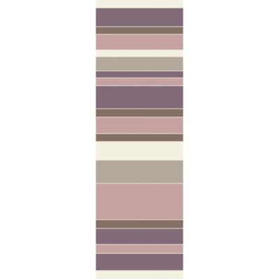 Hand-Tufted Taupe/Eggplant Area Rug Rug Size: Runner 26 x 8
