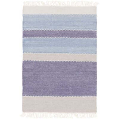 Hand-Tufted Blue/Purple Area Rug Rug Size: 6 x 9
