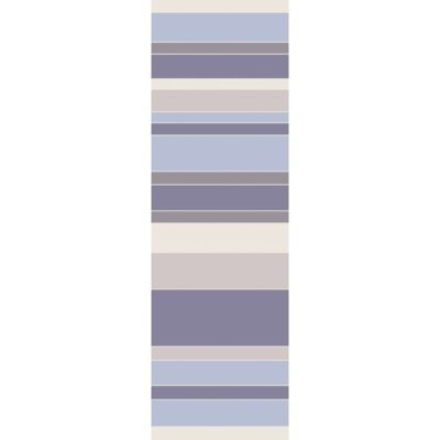 Hand-Tufted Blue/Purple Area Rug Rug Size: Runner 26 x 8