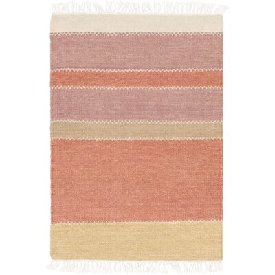 Huffman Hand-Tufted Rust/Mauve Area Rug Rug Size: 2 x 3