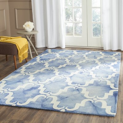 Laguna Hand-Tufted Blue/Ivory Area Rug Rug Size: Rectangle 5 x 8