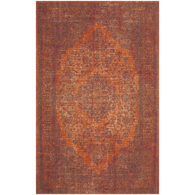 La Foa Red Area Rug Rug Size: Square 6'