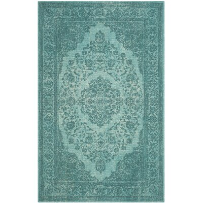 Chelsea Classic Vintage Aqua Area Rug Rug Size: Rectangle 3 x 5