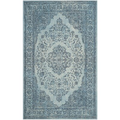Chelsea Vintage Blue Area Rug Rug Size: Rectangle 67 x 92