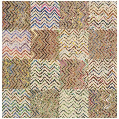 Tufted Cotton Area Rug Rug Size: Square 4