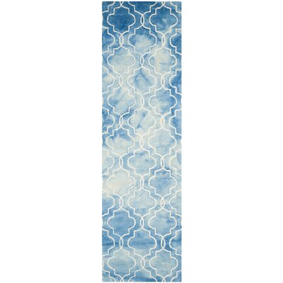 Tufted Cotton Blue Area Rug Rug Size: Runner 23 x 8