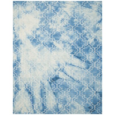 One-of-a-Kind Hand-Tufted Blue/Ivory Area Rug Rug Size: Rectangle 8 x 10