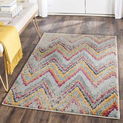 Pink/Blue Area Rug Rug Size: Rectangle 3 x 5