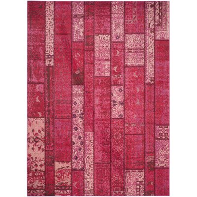 Pink Area Rug Rug Size: 8 x 11