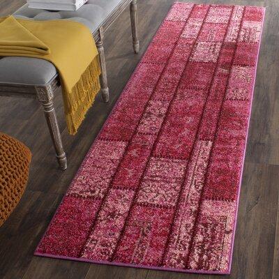 Pink Area Rug Rug Size: Runner 22 x 8