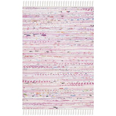 Lansing Hand-Woven Light Pink Area Rug Rug Size: Rectangle 8 x 10