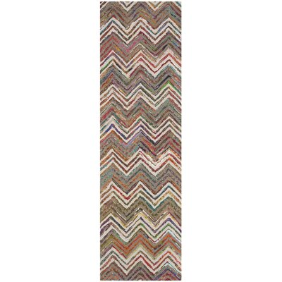 Hand-Tufted Beige/Gray Area Rug Rug Size: Runner 23 x 8