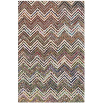Hand-Tufted Beige/Gray Area Rug Rug Size: 4 x 6
