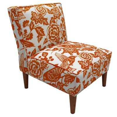 Fiona Tangerine Slipper Chair