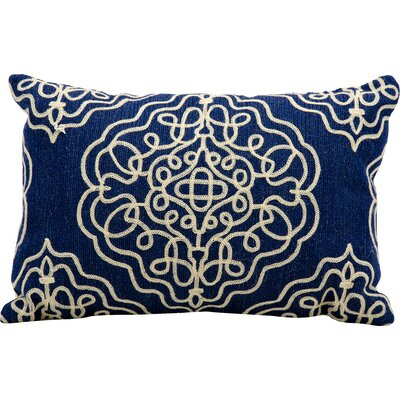 Shabazz Wool Outdoor Wool Lumbar Pillow Color: Midnight