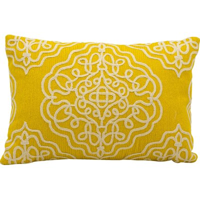 Shabazz Wool Outdoor Wool Lumbar Pillow Color: Buttercup