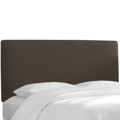 Florus Slipcover Upholstered Panel Headboard Size: Twin, Upholstery: Charcoal