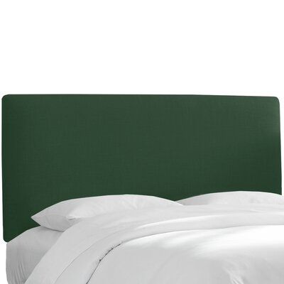 Upholstered Headboard Upholstery: Conifer Green, Size: Queen
