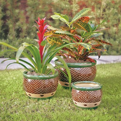 Dieren 3 Piece Round Pot Planter Set