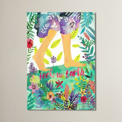 Marche Feel the Earth 2 by Mia Charro Painting Print