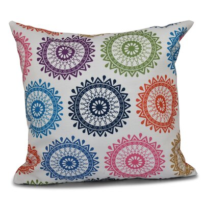 Meetinghouse Outdoor Throw Pillow Size: 18 H x 18 W, Color: Teal