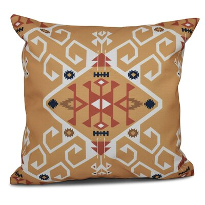 Oliver Jodhpur Medallion Geometric Outdoor Throw Pillow Size: 18 H x 18 W, Color: Gold