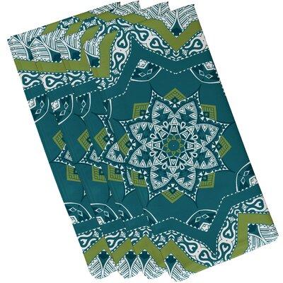 Oliver Shawl Geometric Print Napkin Color: Teal