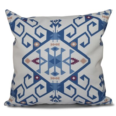 Oliver Outdoor Throw Pillow Size: 18 H x 18 W, Color: Blue