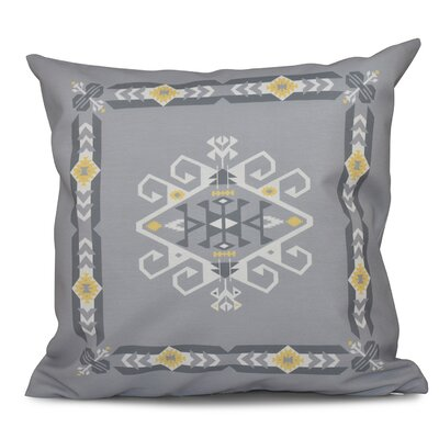 Meetinghouse Jodhpur Border 3 Geometric Outdoor Throw Pillow Size: 18 H x 18 W, Color: Blue