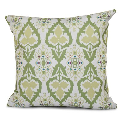 Oliver Bombay Geometric Outdoor Throw Pillow Size: 18 H x 18 W, Color: Green