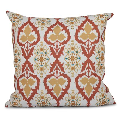 Oliver Bombay Geometric Outdoor Throw Pillow Size: 20 H x 20 W, Color: Coral