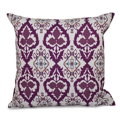 Oliver Bombay Geometric Outdoor Throw Pillow Size: 18 H x 18 W, Color: Purple