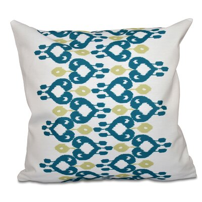 Oliver Boho Chic Geometric Outdoor Throw Pillow Size: 18 H x 18 W, Color: Teal